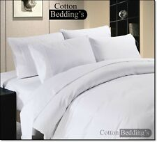 800 1000 1200 TC 100% Egyptian Cotton US Size Sheet/Duvet Set Hotel White Solid
