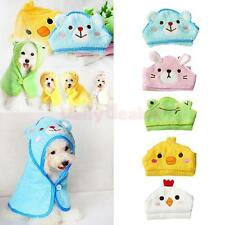 Pet Dog Cat Animal Design Nightgown Puppy Bathrobe Super Absorbent Towel Pajamas