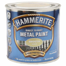 Hammerite Direct To Rust Metal Paint 250ml Smooth, Red, Gold, Silver