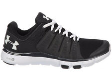 NEW WOMENS UNDER ARMOUR MICRO G LIMITLESS TR 2 CROSS TRAINING SHOES BLACK / STEA