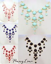 Statement Bib Necklace Bubble Bauble Hot Pink, Mint, Navy, Red, Black - Mini