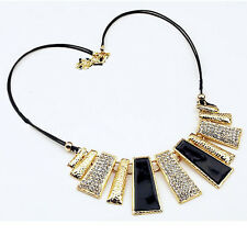 Fashion Women Jewelry Sector Pendant Crystal Chain Sector Necklace Choker Cool