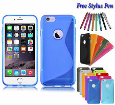 S-Line Wave Soft Silicone Gel Grip TPU Case Cover Holder For Apple iPhone 6S UK