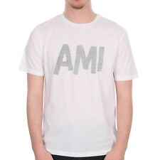 New Mens Ami  Crew Neck T Shirt - White    Crew neck