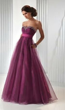 Floor length bridesmaid dresses formal Evening Wedding ball prom Gown stock 6-16