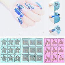 Reusable Hollow Nail Art Stencils Recycle Nail Stencils Stickers New Style