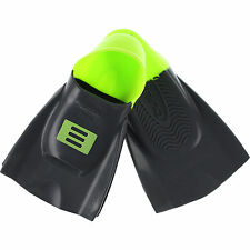 DMC Training Swim Fins - MEDIUM/LARGE Charcoal/Green (Size 9-10)