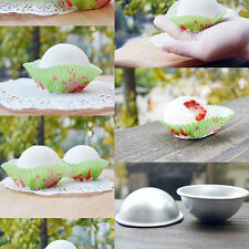 3D Aluminum Ball Sphere Bath Bomb Mold Cake Pan Tin Baking Pastry Mould Hot