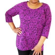 Ex Evans New Plus Size Swing Flared Polka Dot Print Top Blouse  18 - 32 RRP £39
