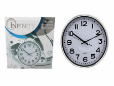 30cm Wall Clock Simple Modern Design White On Black Or Black on White