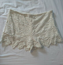Select Cream Crochet Lace Shorts UK 12