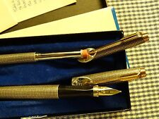 VINTAGE PARKER 75 STERLING SILVER FOUNTAIN PEN AND PENCIL SET