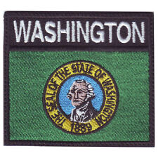 WASHINGTON BADGE FLAG EMBROIDERED  PATCH