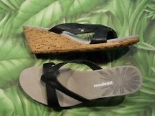 PATAGONIA SOLIMAR WEDGE SLIDE Black Leather Sandals Womens NEW Box