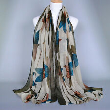 Hot!Women Scarf Lady Long Printed Flower Neck Shawl Chiffon Scarf Warm Wrap
