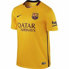 FC Barcelona Barca Men Nike University Gold Away Stadium Soccer Jersey NWT S-XXL