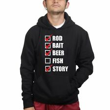 Rod Bait Fish Fishing Mens Sweatshirt Hoodie