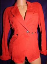 XS S M DIESEL Womens Females AUTH Cotton G-Bott Jacket Coat Buttoned RED Coral