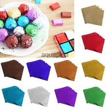 100Pcs 8cm Square Sweets Package Candy Chocolate Lolly Foil Paper Festival Gift