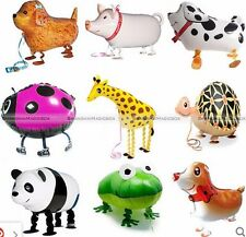 Cute Kids Walking Pet Foil Balloon Animal Helium Fun Birthday Parties Decor