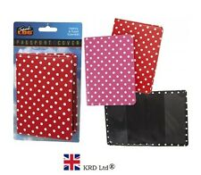 POLKA DOT Print Design PASSPORT HOLDER Travel Fashion Case Cover Covers Gift NEW