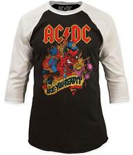 AC/DC- Are You Ready? (Raglan) Longsleeve Shirt Two-Tone Tee T shirts Top New