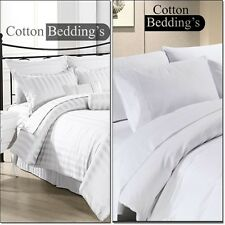 1000 TC 100% Egyptian Cotton All UK Size Hotel Scalal Brand Bed Linen in White