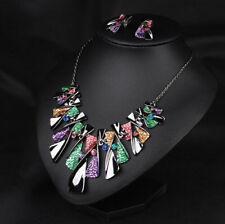 Bib Necklace Chain Crystal New Pendant Statement Women Jewelry Choker Chunky
