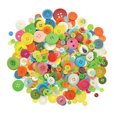 500G BAG OF CRAFT BUTTONS - MULTI COLOURED