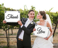 A3 A4 Vintage shabby Chic Thank you sign photo booth props wedding photography-2