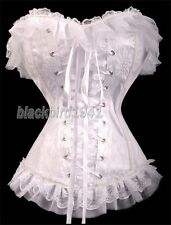 2771 GOTHIC PUNK LOLITA WEDDING VICTORIAN WHITE LACE APPEALING CORSET BUSTIER