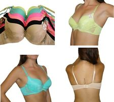 1 Bra or Lot of 6 Bras,LACE PUSH-UP CUP UNDERWIRE THICK-PADDING  B C Style #6947