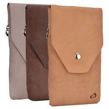 Universal Full-grain Genuine Leather Phone Wallet Case Pouch  GMENMO2|ECE