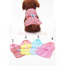 Pet Dog Soft Summer T-shirt for Puppy Cotton Plaid Costume Cozy Apparel