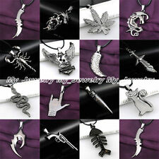 Best Jewelry Gifts Fashion Cool Women Men Black Stainless Steel Pendant Necklace