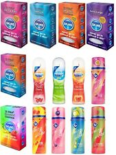 Durex + ID Lube + Skins Condoms -Tingle, Cherry, Bubblegum, Watermelon,Pinacola
