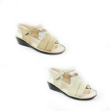 NEW WOMENS LADIES SUMMER STRAPPY  MID HIGH WEDGE HEEL SANDALS SHOES SIZE 3-8