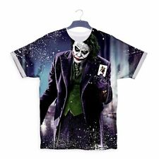 New Joker 3D Why So Serious Heath Ledger T shirt Top Tee