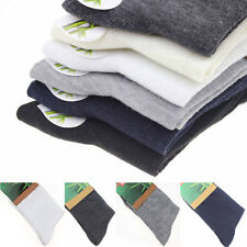 5-Pairs Men Business Solid Bamboo Fiber Breathable Casual Dress Socks Wholesale!