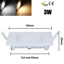 3W LED Panel Light White Warm downlight Recessed Ceiling lamp 100-240V AC square