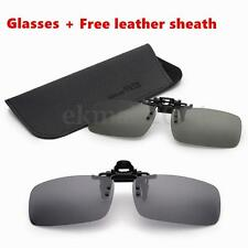Night Vision Glasses Polarized Driving/Fish Clip on Sunglasses Fr Metal Frame UK