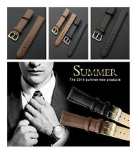 Classic Charming Genuine Leather Watch Band Strap For Mens Gents Womens Ladies