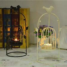 Vintage Metal Arch Door Birdcage Candle Tea Light Holder Candlestick Black/White