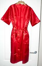 Beautiful Red Satin long Robe Size 6 8 10 Nightrobe dressing gown robes