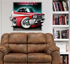 Christine 1958 Fury Cartoon WALL GRAPHIC FAT DECAL MAN CAVE BAR ROOM 9286