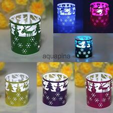 50pcs Tea Light Holders Glossy Paper Candle Lampshade Wedding Decor 7 Colors