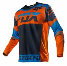 Fox Racing NEW Mx Gear 2016 180 Mako BMX Dirt Bike Orange Blue Motocross Jersey
