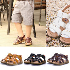 Hot Retro Kid Baby Boy Girl Soft Leather Sandals Prewalker Casual Beach Shoes