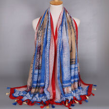 New Fashion Style Women Flower Long Soft Silk Voile Scarf Wrap Shawl Scarves