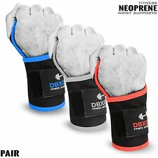 Weight Lifting Neoprene Bandage Wrist Support Gym Fitness Workout Wraps - PAIR